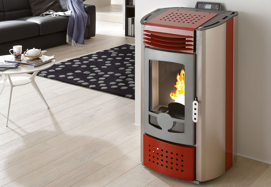 Stufa a pellet 12 kw smart linea vz for Stufa a pellet edilkamin daisy